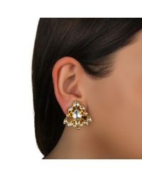 Sanjay Kasliwal - Blue Diamond Chandelier Earrings - Lyst