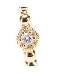 Stone | Metallic Tiny Hoop Charmante 18kt Gold And Diamond Single Earring | Lyst