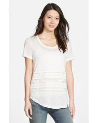 Pleione | White Drape Back Knit Top | Lyst