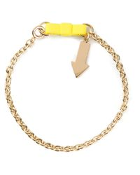 Marc By Marc Jacobs | Metallic 'bow Tie With Arrow' Bracelet | Lyst