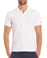 Porsche Design | White Solid Polo for Men | Lyst