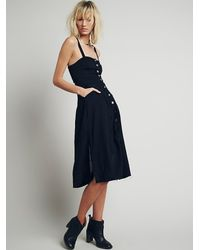 Free People - Black Girlfriend Material Dress - Lyst