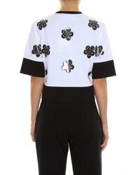 Victoria, Victoria Beckham - White Flower T-shirt - Lyst
