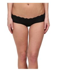 Spanx | Black Lace Waist Hipster | Lyst