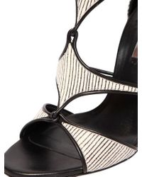 Casadei - White 100Mm Ayers Cage Sandals - Lyst