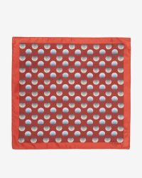 Ted Baker - Orange Large Spot Silk Pocket Square for Men - Lyst