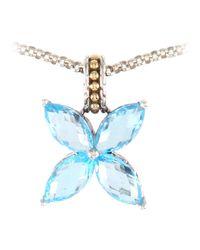 John Hardy - Batu Kawung Blue Topaz Butterfly Necklace - Lyst