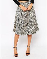 AX Paris | Metallic Boutique Midi Skirt | Lyst