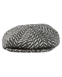 Paul Smith - Gray Herringbone Gatsby Hat for Men - Lyst