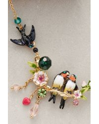 Les Nereides | Black Lovebird Wreath Necklace | Lyst