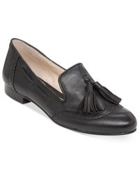 Vince Camuto | Black Chayton Oxford Flats | Lyst