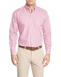 Peter Millar - Pink Regular Fit Check Sport Shirt for Men - Lyst