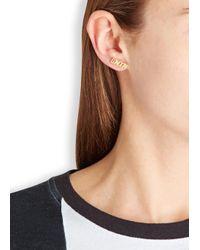 MFP MariaFrancescaPepe | Metallic London 23Kt Gold Plated Stud Earrings | Lyst