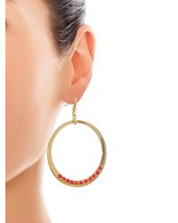 Diane von Furstenberg - Metallic Susan Coral Circle Drop Earrings - Lyst