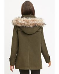Forever 21 | Green Faux Fur-trimmed Jacket You've Been Added To The Waitlist | Lyst