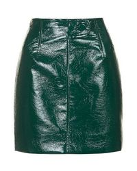 TOPSHOP - Green Maida Mini Skirt By Unique - Lyst
