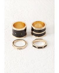Forever 21 | Black Lacquered Ring Set | Lyst