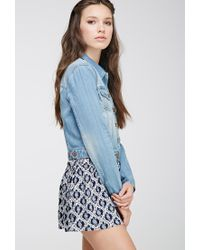 Forever 21 | Blue Denim Jacket | Lyst