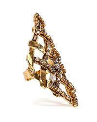 Erickson Beamon - Metallic Heart Of Gold Ring - Lyst