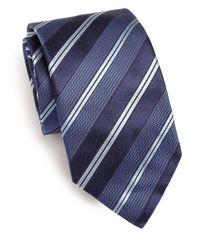 Eton of Sweden | Blue Textured Striped Tie for Men | Lyst