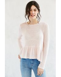 Kimchi Blue | Natural High/low Babydoll Sweater | Lyst