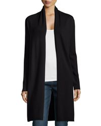 Neiman Marcus | Black Long Cashmere Duster Cardigan | Lyst