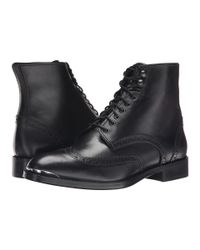 The Kooples - Black Smooth Leather Military Boot for Men - Lyst
