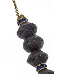 Isabel Marant - Blue Stromboli Gold-tone Crystal and Wood Necklace - Lyst