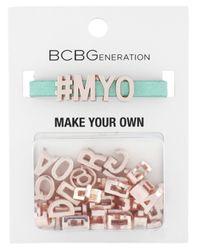 BCBGeneration - Green Rose Gold-Tone Seafoam Band Make Your Own Affirmation Bracelet Kit - Lyst