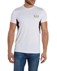 EA7 - White Ventus Logo Crew Neck Regular Fit T-shirt for Men - Lyst