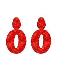 Oscar de la Renta | Red Oscar Earring | Lyst