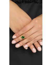 Bijules - Green Phalange Brilliant Cut Cocktail Ring - Lyst