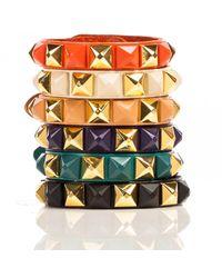 Linea Pelle | Metallic Pyramid Stud Bracelet | Lyst