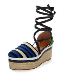 Lanvin - Multicolor Striped Canvas and Leather Espadrilles  - Lyst