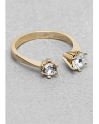 & Other Stories | Metallic Rhinestone Ring | Lyst