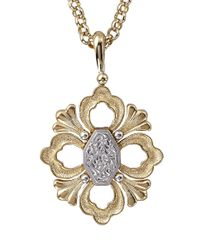 Buccellati | Metallic Pendant Necklace With Engraved Motif In Yellow Gold | Lyst