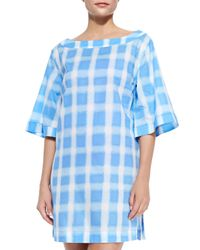 Marc By Marc Jacobs - Blue Courtney Square-print Tunic - Lyst
