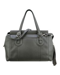 Nine West | Gray Tessy Leather Satchel | Lyst