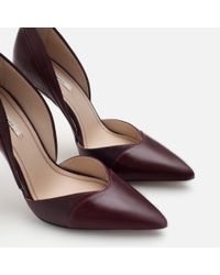 Zara | Purple High Heel D'orsay Shoes | Lyst