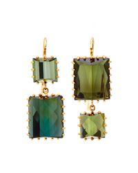 Renee Lewis | Green One Of A Kind Alternating Chrome Tourmaline Earrings | Lyst