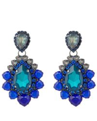 Vickisarge | Blue Adele Earrings | Lyst