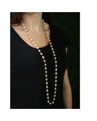 Jordan Alexander | Pink Natural Freshwater Pearl Necklace | Lyst