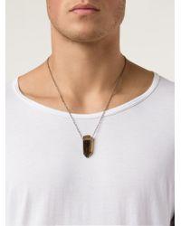 Joseph Brooks - Metallic Quartz Pendant Necklace for Men - Lyst