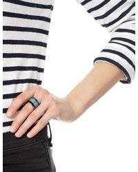 Pamela Love | Blue Multi Inlay Stack Rings | Lyst