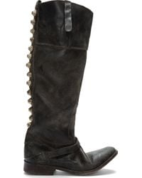 Golden Goose Deluxe Brand | Black Leather Worn Charlye Boot | Lyst
