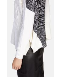 Karen Millen - Multicolor Chunky Textured Roll-neck Jumper - Lyst