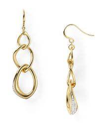 Nadri - Metallic Clean Pave Drop Link Earrings - Lyst