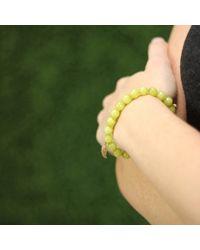 Sydney Evan - Yellow Diamond Wing Beaded Bracelet - Lyst
