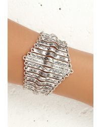 Forever 21 | Metallic Tribal-inspired Bar Bracelet | Lyst