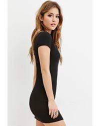 Forever 21 - Black Minimalist Graphic T-shirt Dress - Lyst